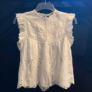 Zara Enbroidered Blouse Imperfect See PIc XS NWT